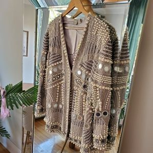 Pearl and Beaded embellished coat/blazer